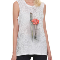 Once Upon A Time Rumplestiltskin Dagger Rose Girls Muscle Top