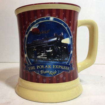 "The Polar Express Train Ride Souvenir HotHot Chocolate Mug ""Believe"" Warner Bros"