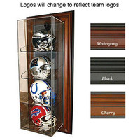 Oakland Raiders NFL Case-Up 4 Mini Helmet Display Case (Vertical) (Mahogany)