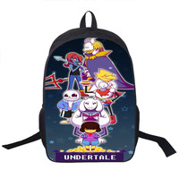 Undertale Several styles to choose from Backpack School Harajuku style Boys Girls Bag Variety Color Print