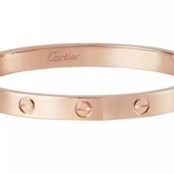 CARTIER LOVE BRACELET IN PINK GOLD SIZE 19 MINT CONDITION NEW SCREW SYSTEM