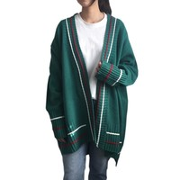Korean Chic Style Autumn Winter New All-match Hit Color Long Striped Sweater 2018 Harajuku Women Kawaii Cardigan Female Coat