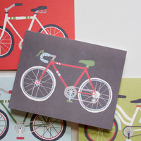 Retro Bicycle Cards, Boxed Set of 8