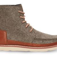 TOMS Charcoal Felt Men's Searcher Boots Grey