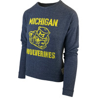 Retro Brand University of Michigan Women's Heather Navy Haachi Crewneck Sweatshirt