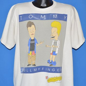 90s Beavis And Butthead Tommy Pull My Finger MTV t-shirt Extra Large