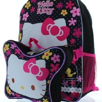 """Hello Kitty 15"""" Backpack with Lunch Bag"""