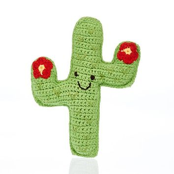 Cactus Fair Trade Knitted Baby Rattle