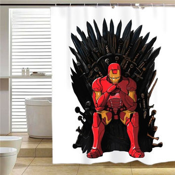 The Iron Man Throne shower curtain