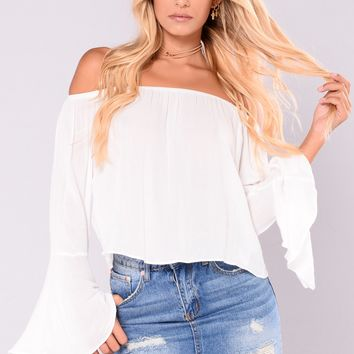 Harper Off The Shoulder Top - White