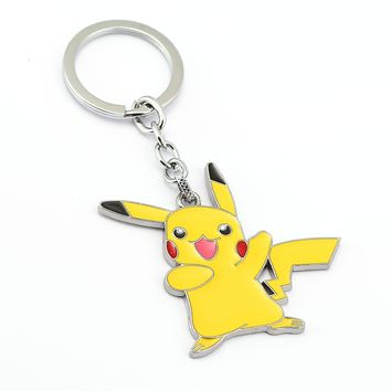 Badge  Go Badge Keychain mini Zinc Alloy Figures model  cosplay small decoration with Car key ringKawaii Pokemon go  AT_89_9
