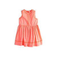 crewcuts Baby Dress In Embroidered Triangles
