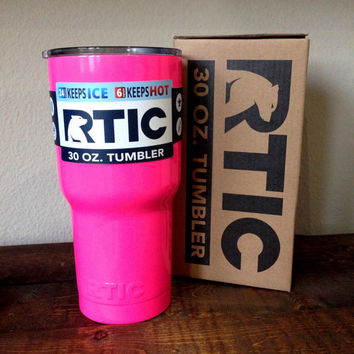 30 oz. RTIC Tumbler Custom Powder Coated Sassy Pink