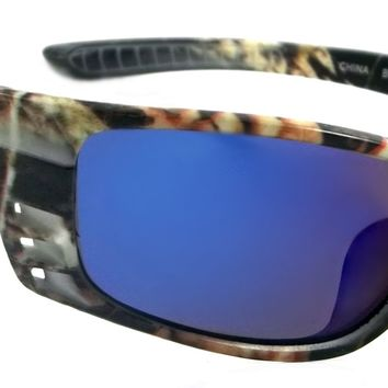 Camouflage Polarized Sunglasses Sport Verdon Power Style Wrap