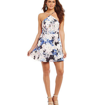 Keepsake Crossroads Watercolour Floral-Print Mini Dress | Dillards