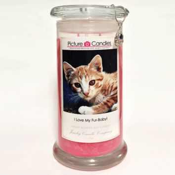 I Love My Fur-Babies! - Picture Candles