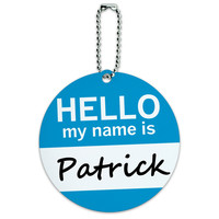 Patrick Hello My Name Is Round ID Card Luggage Tag
