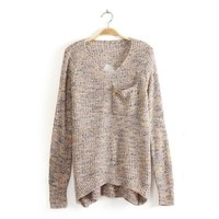 Color Long Sweater Hollow