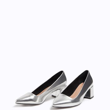 Mid-heel metallised shoe - null | Stradivarius United Kingdom