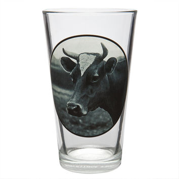 Cow Portrait Pint Glass