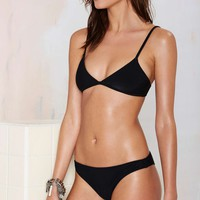 Nasty Gal Alina Swimsuit - Black