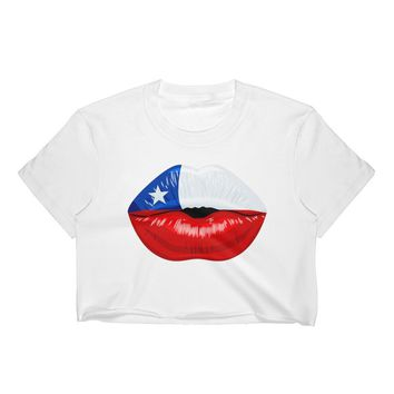 Flag of Chile Women's Crop Top