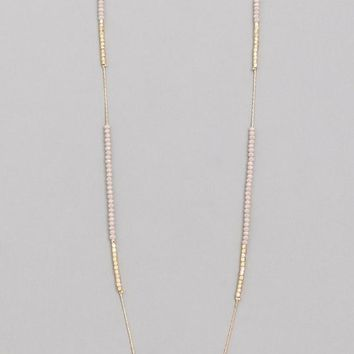 Dainty Beaded Long Necklace