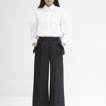 Wide Leg Trousers with Bow Pockets by Simone Rocha- La Garçonne