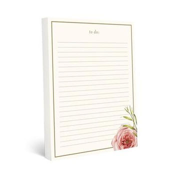 Coral Floral Large Notepad