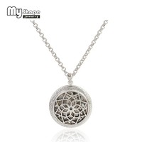 my shape Flower Of Life Hollow Locket Pendant Aromatherapy Essential Oil Diffuser Necklace Random Send 5pcs Oil Pads as Gifts