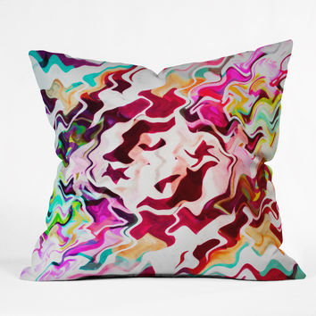 Caleb Troy Melted Graffiti Outdoor Throw Pillow