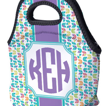 Lunch Tote - Pac Monogram and Stripe