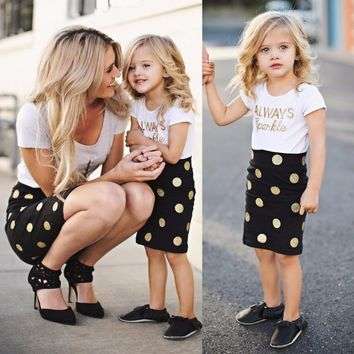 Mom and Baby Clothing Sets Mother Daughter Dresses Family Matching