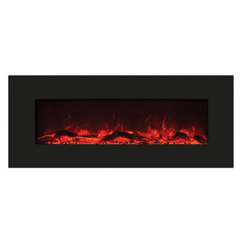 Amantii Wall Mounted Electric Fireplace (WM‐50‐BLKGLS)
