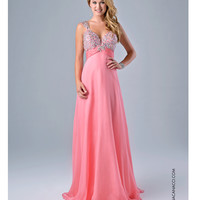 Nina Canacci 7310 Pretty Pink Open Back Dress 2015 Prom Dresses
