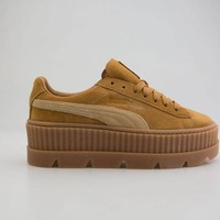 puma x fenty by rihanna women cleated creeper suede brown 366268-02