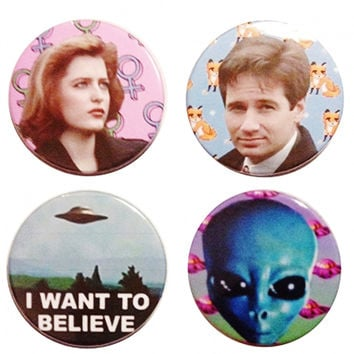 I Want to Believe X-Files Button Set