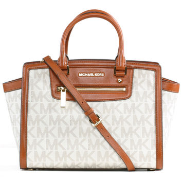 Michael Kors Selma Large Zip Satchel
