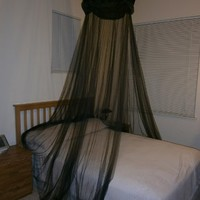Octorose ® Black Hoop New Bed Canopy Mosquito Net / Canopy