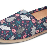 American Shorthair Cat Flower Casual Shoes