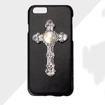 Cross Pearl Leather Iphone 6 6S Plus Case