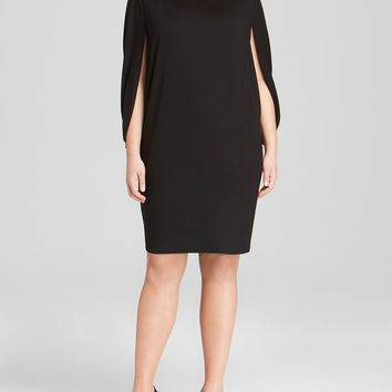 Three Dots Plus Cape Dress From Bloomingdales Plus Size