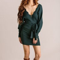 Brinley Ribbed Sweater Dress