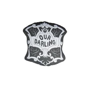 Our Darling - Casket Plate Inspired Mini Pillow - Handmade Plush Throw Pillow - Horror Inspired Home Decor - Killin Me Softly