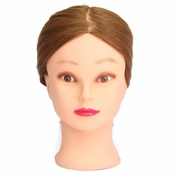 """26"""" Training Head for Hairdressers Mannequin Head Hair Hairdressing Doll Heads Cosmetology Mannequin Head Manikin With Stand"""