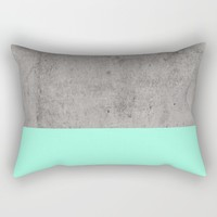Sea on Concrete Rectangular Pillow by Cafelab