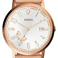 Women's Fossil 'Vintage Muse' Leather Strap Watch, 40mm