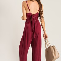 Harlow Red Bow Back Jumpsuit