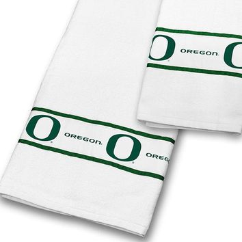 NCAA Oregon Ducks Towel Set College Bath Accessories