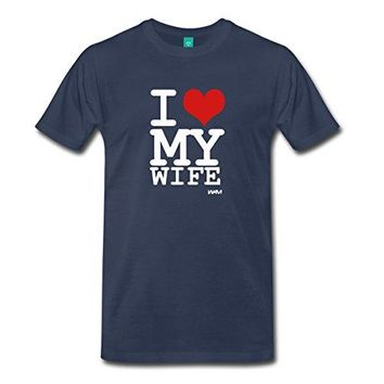 I Love My Wife Men's Premium T-Shirt 100% Cotton